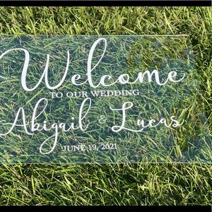 Signs for weddings , Birthday, Baby showers, etc